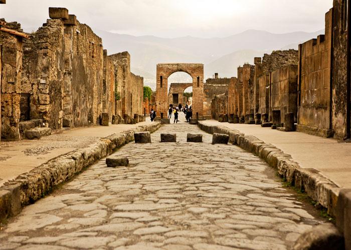 Εκδρομή στην Ιταλία, Πομπηία